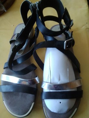 Tamaris Roman Sandals black-silver-colored leather
