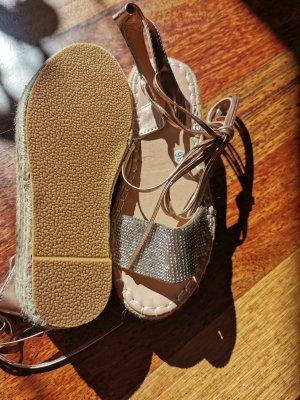 Platform High-Heeled Sandal nude