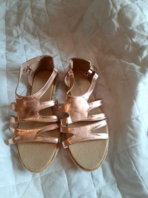 Espadrille Sandals bronze-colored