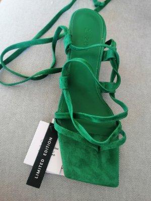 Mango Lace-up Pumps green