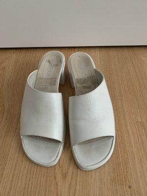 unbekannte Sandales à plateforme blanc
