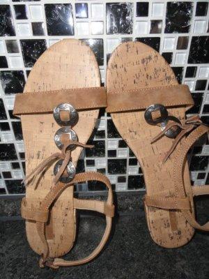Esprit Sandalias cómodas marrón claro