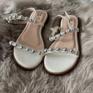 Sandalen Ella Cruz Größe 36 weiß mit Perlen