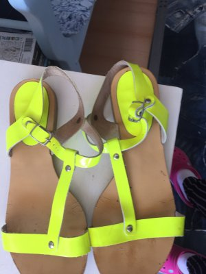 Dianette Sandals neon yellow
