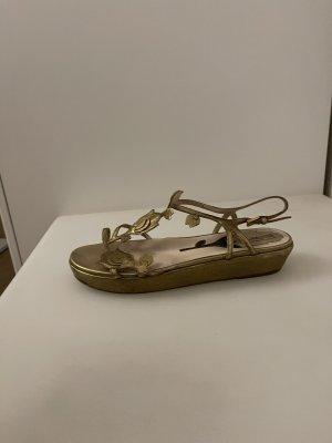 Prada Sandały rzymskie złoto