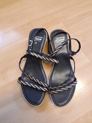 Luna Strapped Sandals black-beige