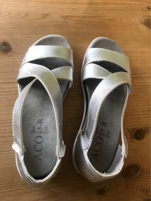 Aco Comfortabele sandalen zilver