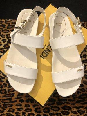 Fendi Strapped Sandals white