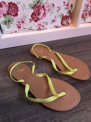 Sandalen Flip Flops neon gelb Schlappen Sommer