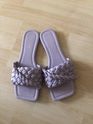 Boutique Wygodne sandały liliowy-jasny fiolet