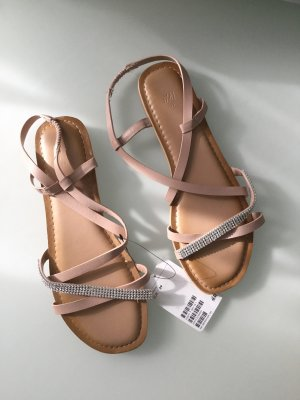 H&M Roman Sandals silver-colored-nude