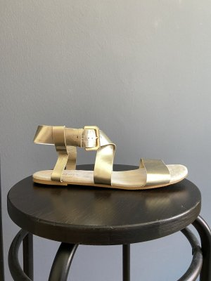H&M Divided Strapped Sandals gold-colored