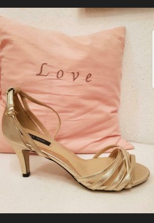 SFERA FEMME COLLECTION Strapped High-Heeled Sandals gold-colored