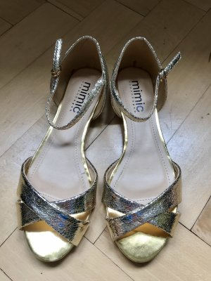 Mimic Copenhagen Sandalo con cinturino oro