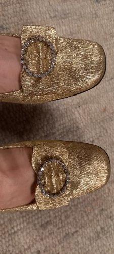 Sandalen gold glänzend