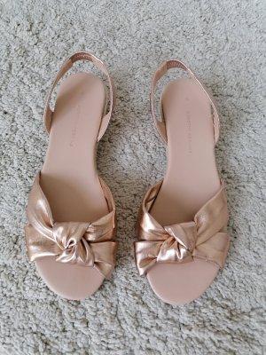 Clog Sandals rose-gold-coloured