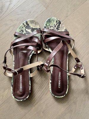 Corso Como Strapped Sandals dark brown