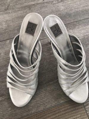 Calvin Klein Sandales à talons hauts et lanière argenté