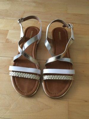 Graceland Comfort Sandals white-gold-colored