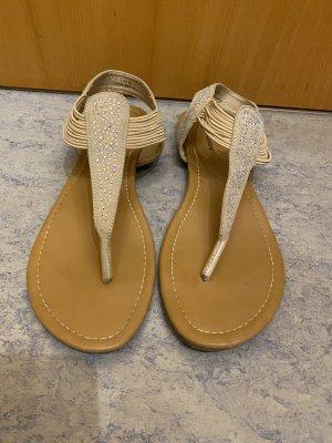 Graceland Toe-Post sandals beige-cream