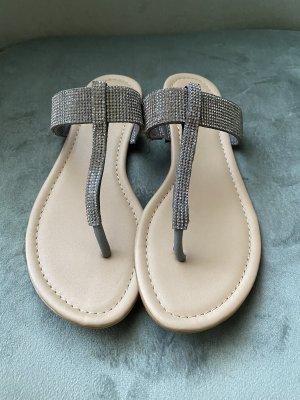 Sandalen grau glänzend