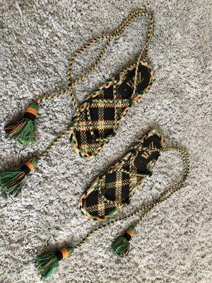 Zara Romeinse sandalen licht Oranje-donkergroen