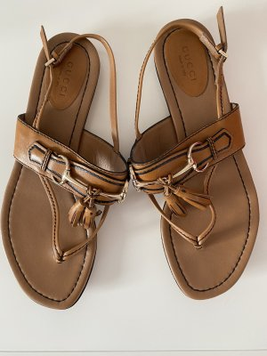 Gucci Toe-Post sandals cognac-coloured-gold-colored