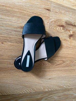 H&M Premium Comfort Sandals black leather