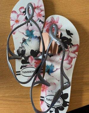 Havaianas Sandalo toe-post bianco-rosa