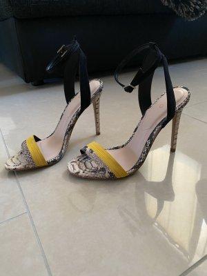 Sandalen High Heels ALDO Gr. 37 Kroko Leder