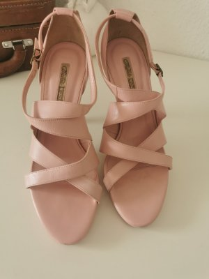Buffalo High Heel Sandal rose-gold-coloured leather