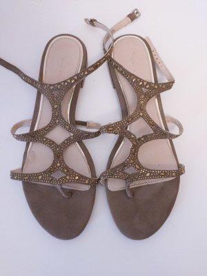 Sandalen I Zara I braun I Glitzer I 40