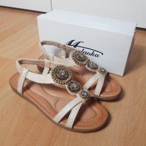 Sandalen in Apricot Gr.40