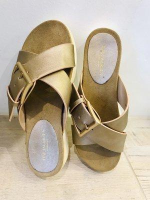 Ilse jacobsen Sandalo comodo oro-crema