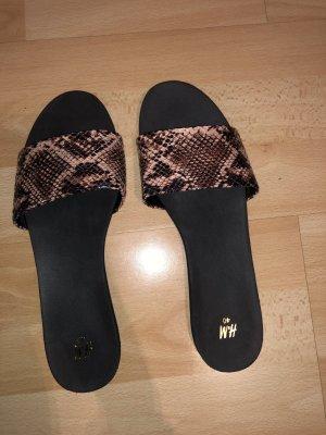 H&M Sandalias de playa negro