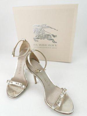 Sandalen in Schlangenoptik von Burberry
