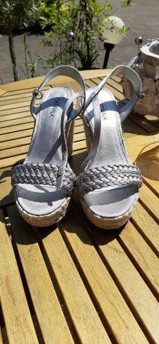 sandalen in silber