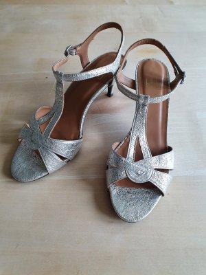 Billi Bi Sandaletto con tacco alto argento Pelle