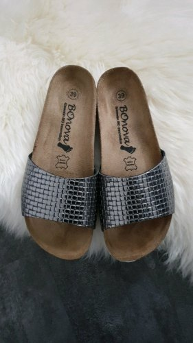 Sandalo comodo argento