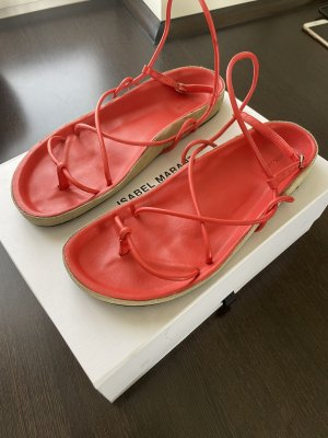 Isabel Marant Sandalo toe-post rosso