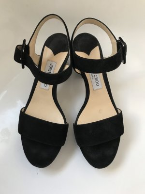 Sandalen, Jimmy Choo, Gr. 40, schwarz