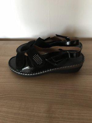Sandales confort noir-argenté