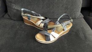 Sandalen Keilabsatz blau neu Sommer Marila