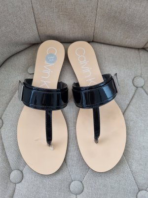 Calvin Klein T-Strap Sandals black