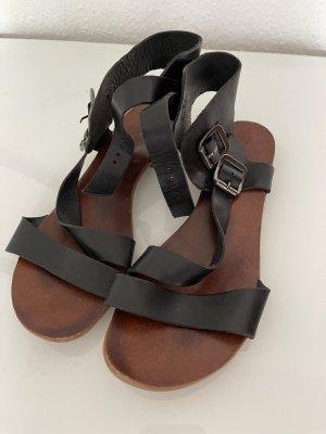 Sandalen Leder schwarz aldo gr 39