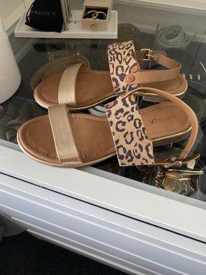 Deichmann Roman Sandals brown-gold-colored