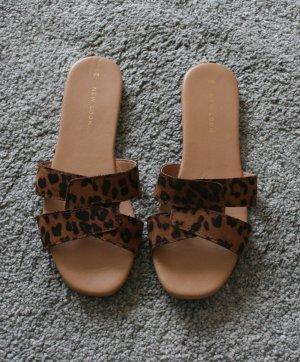 New Look Comfortabele sandalen bruin-zwart