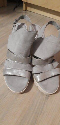 Sandalen Marco Tozzi grau Silber Größe 39