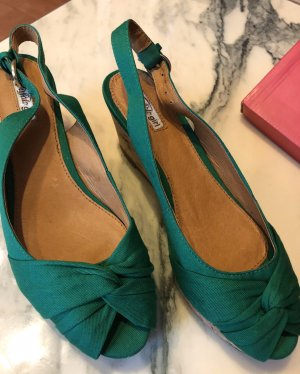 Buffalo girl Platform Sandals green
