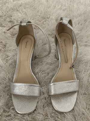 Wedge Pumps silver-colored-light grey